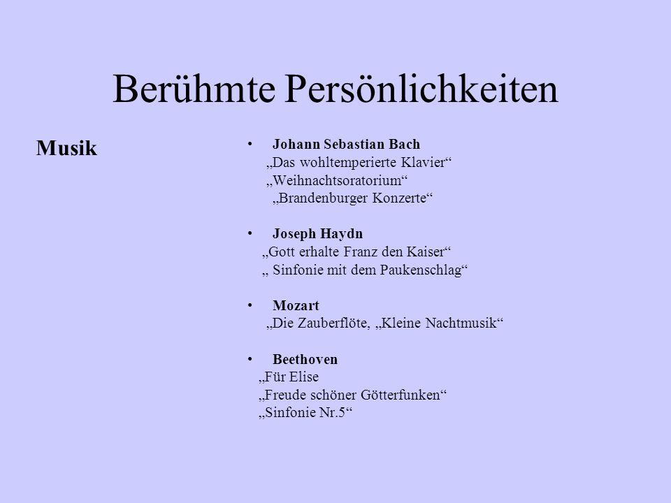 """Berühmte Persönlichkeiten Johann Wolfgang von Goethe """"Erlkönig"""", """"Faust"""" Friedrich Schiller """"Wilhelm Tell"""", """"Die Glocke William Shakespeare Hamlet, So"""