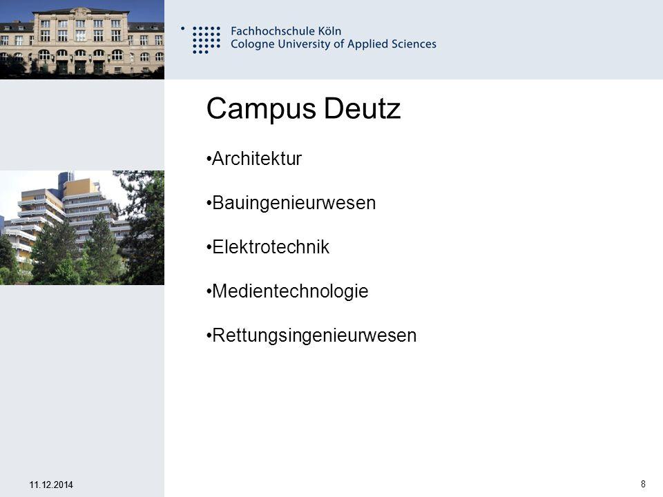 19 Fachhochschule Köln University of Applied Sciences Cologne 11.12.2014 Wie, wann und wo bewerbe ich mich.
