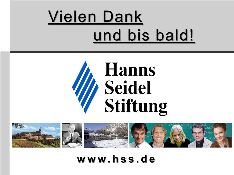 Vielen Dank und bis bald! www.hss.de