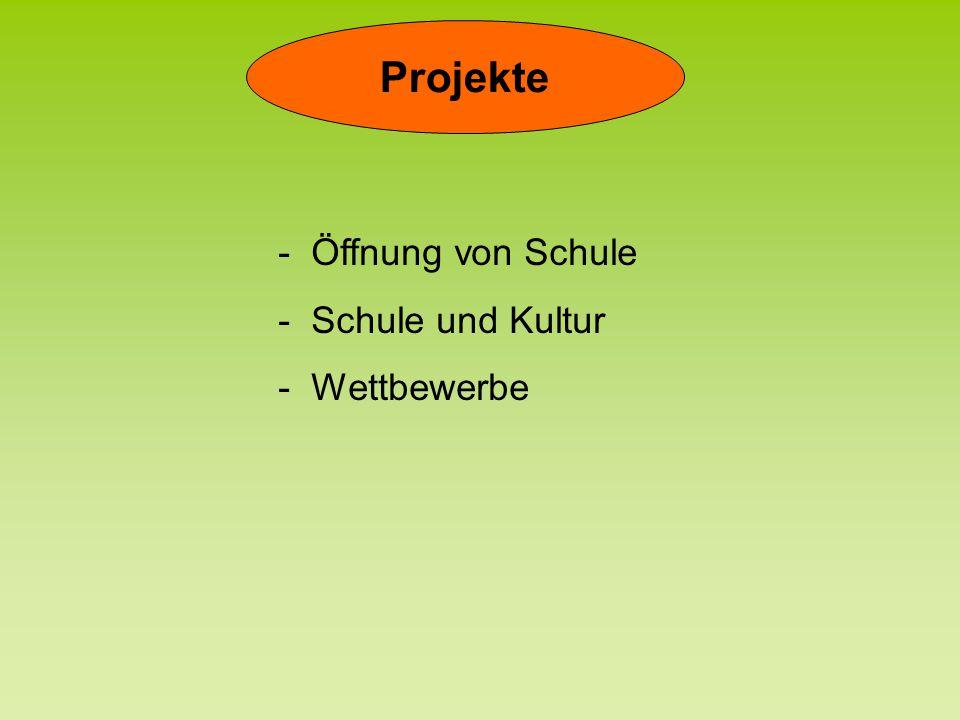 Projekte - Öffnung von Schule - Schule und Kultur - Wettbewerbe