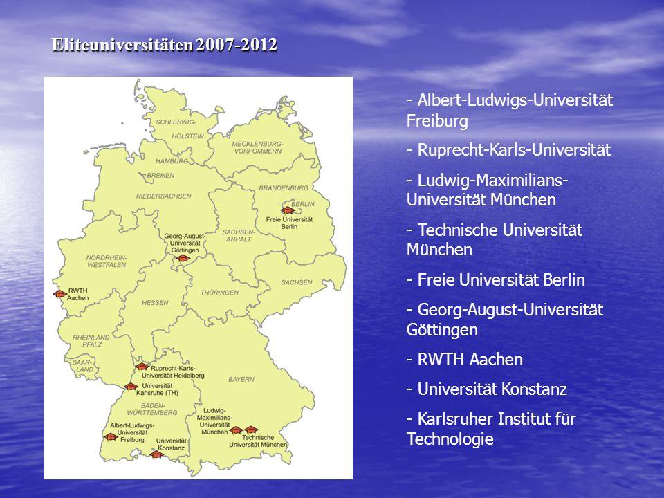 - Albert-Ludwigs-Universit ä t Freiburg - Ruprecht-Karls-Universit ä t - Ludwig-Maximilians- Universit ä t M ü nchen - Technische Universit ä t M ü nc