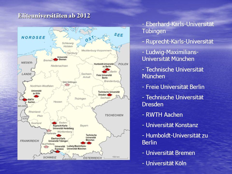 - Eberhard-Karls-Universit ä t T ü bingen - Ruprecht-Karls-Universit ä t - Ludwig-Maximilians- Universit ä t M ü nchen - Technische Universit ä t M ü