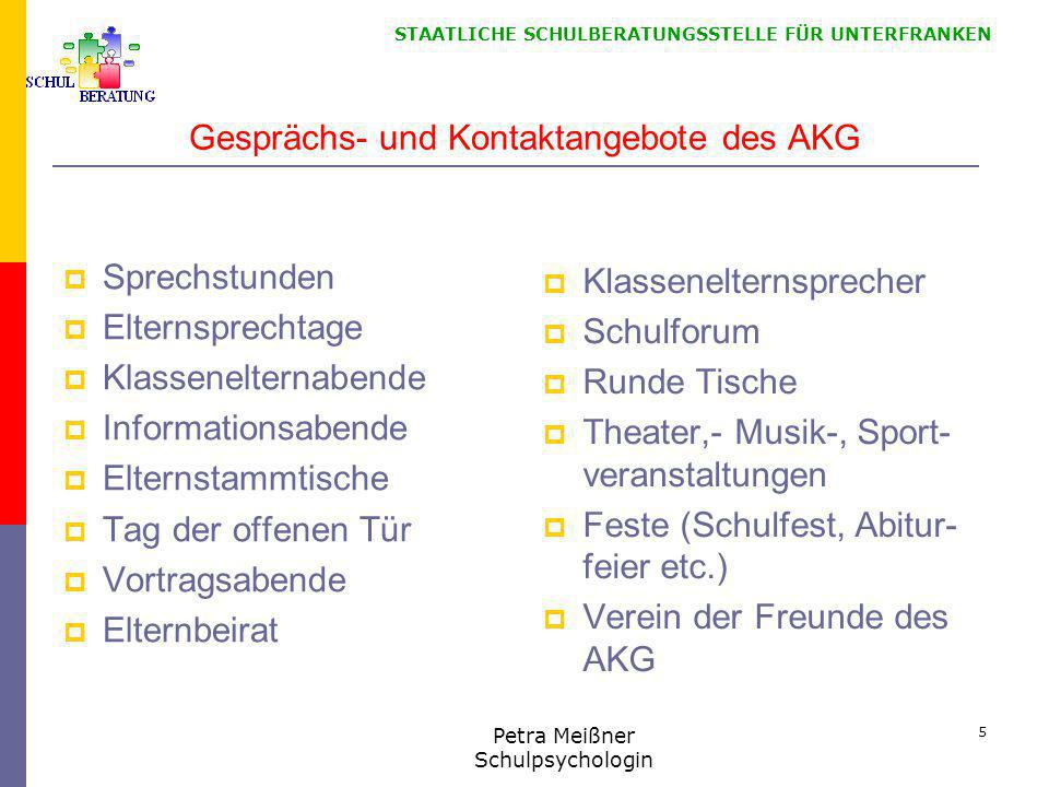 STAATLICHE SCHULBERATUNGSSTELLE FÜR UNTERFRANKEN Besondere Angebote am AKG 2014/15  5./6.