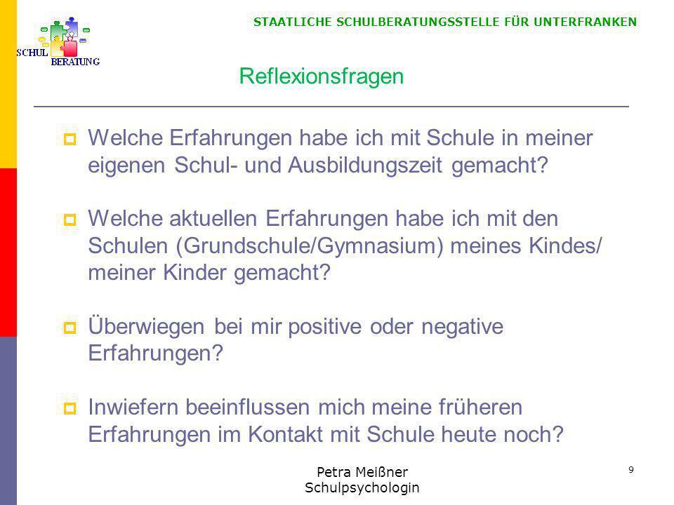 STAATLICHE SCHULBERATUNGSSTELLE FÜR UNTERFRANKEN Quellen  Bauer, Joachim: Lob der Schule.