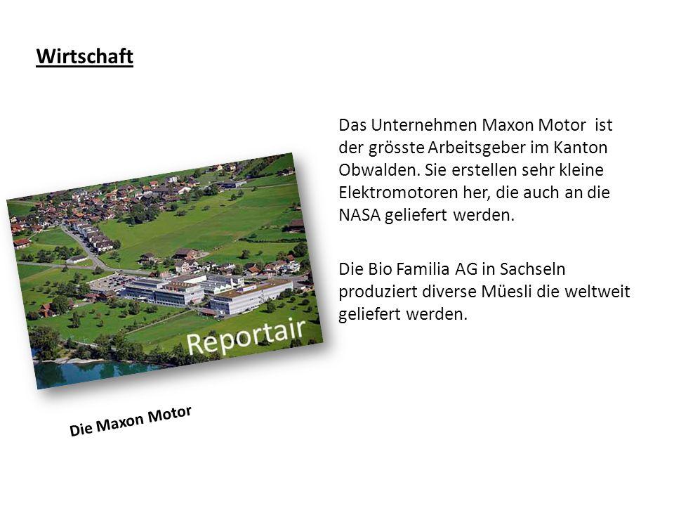 Wirtschaft Das Unternehmen Maxon Motor ist der grösste Arbeitsgeber im Kanton Obwalden.