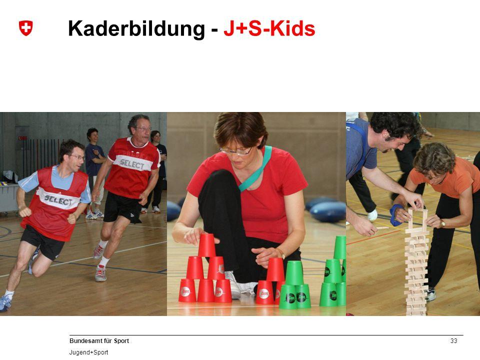 33 Bundesamt für Sport Jugend+Sport Kaderbildung - J+S-Kids