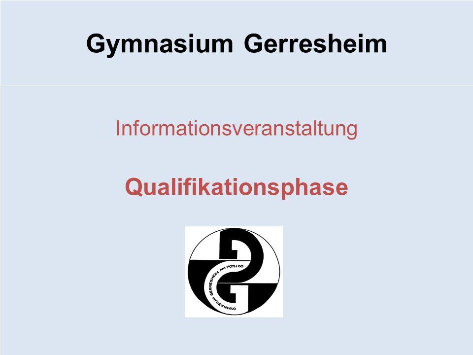 Gymnasium Gerresheim Informationsveranstaltung Qualifikationsphase