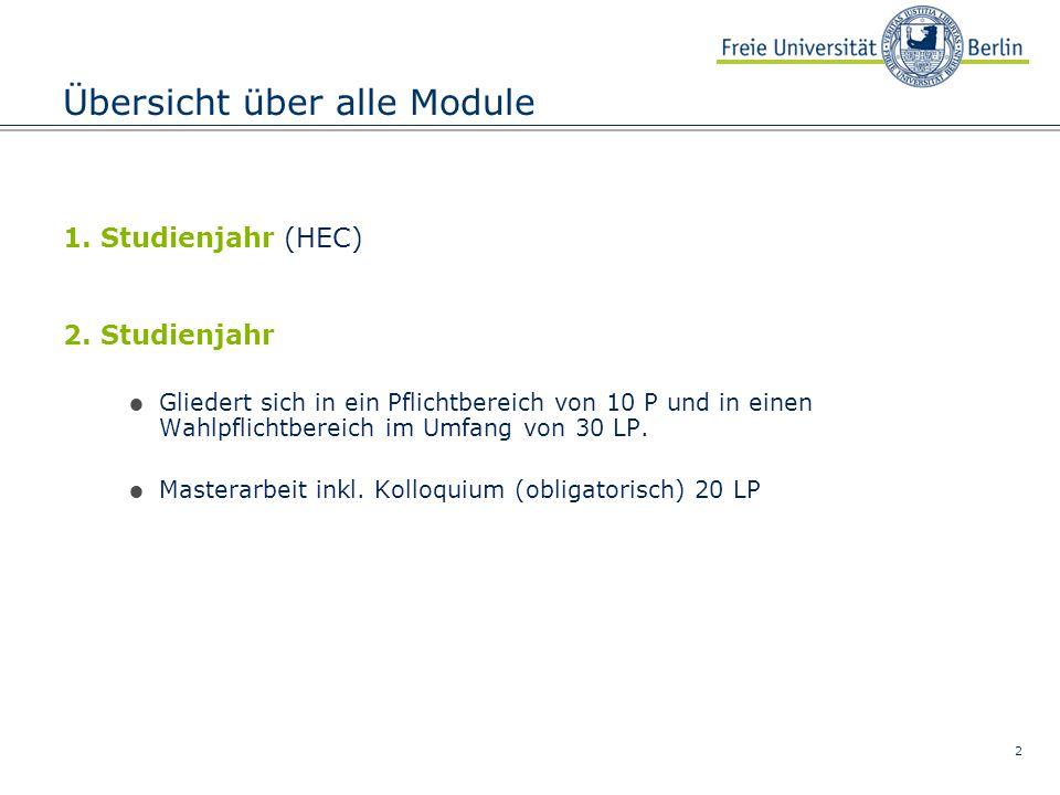 3 Pflichtbereich ModuleLPLV Art SWSTeiln.- pflicht.
