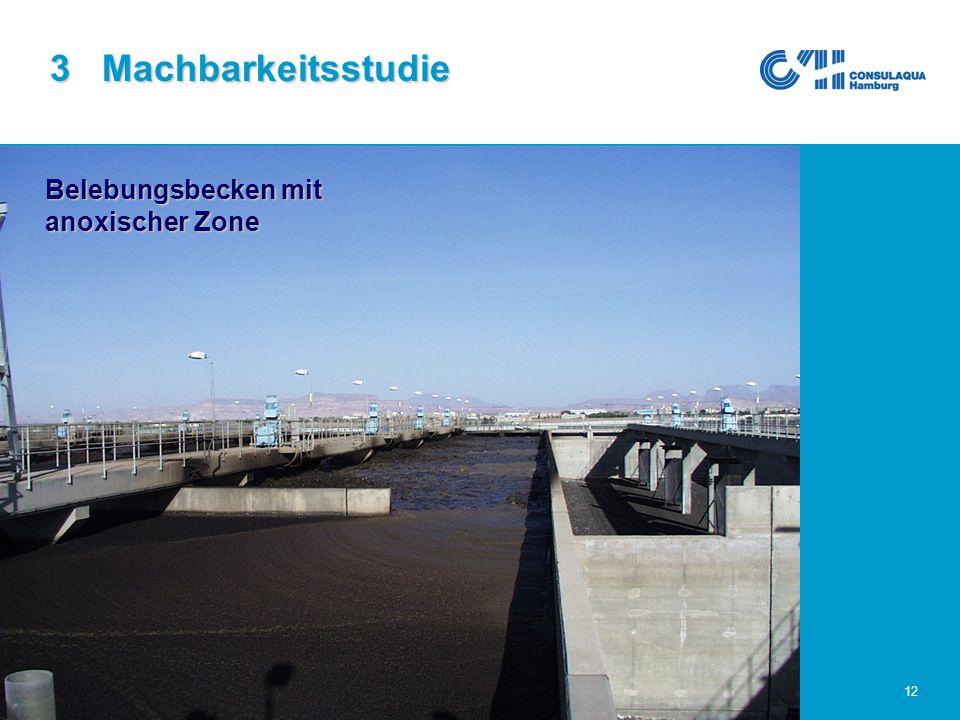 25.02.2005Abwasserwirtschaft im Großraum Sana'a12 3 Machbarkeitsstudie Belebungsbecken mit anoxischer Zone