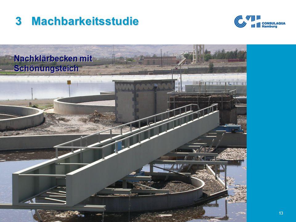 25.02.2005Abwasserwirtschaft im Großraum Sana'a13 3 Machbarkeitsstudie Nachklärbecken mit Schönungsteich