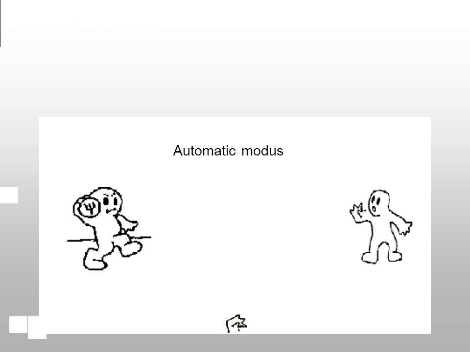 Automatic modus Cyberball - Inclusion