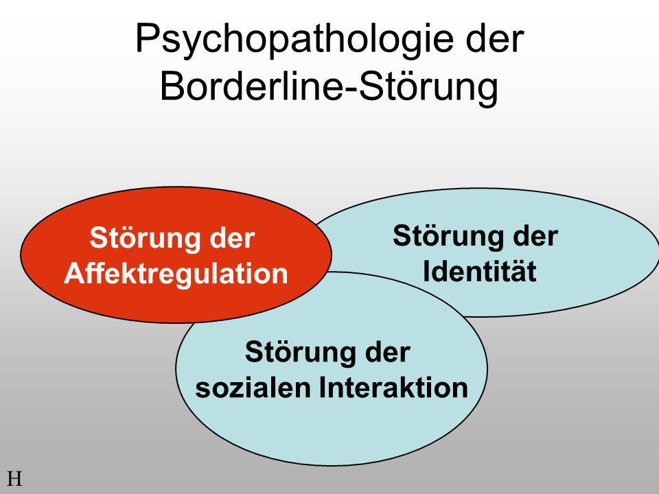 Psychopathologie der Borderline-Störung Störung der Identität Störung der sozialen Interaktion H Störung der Affektregulation