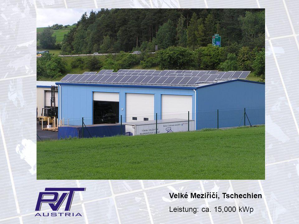 Velké Meziříčí, Tschechien Leistung: ca. 15,000 kWp