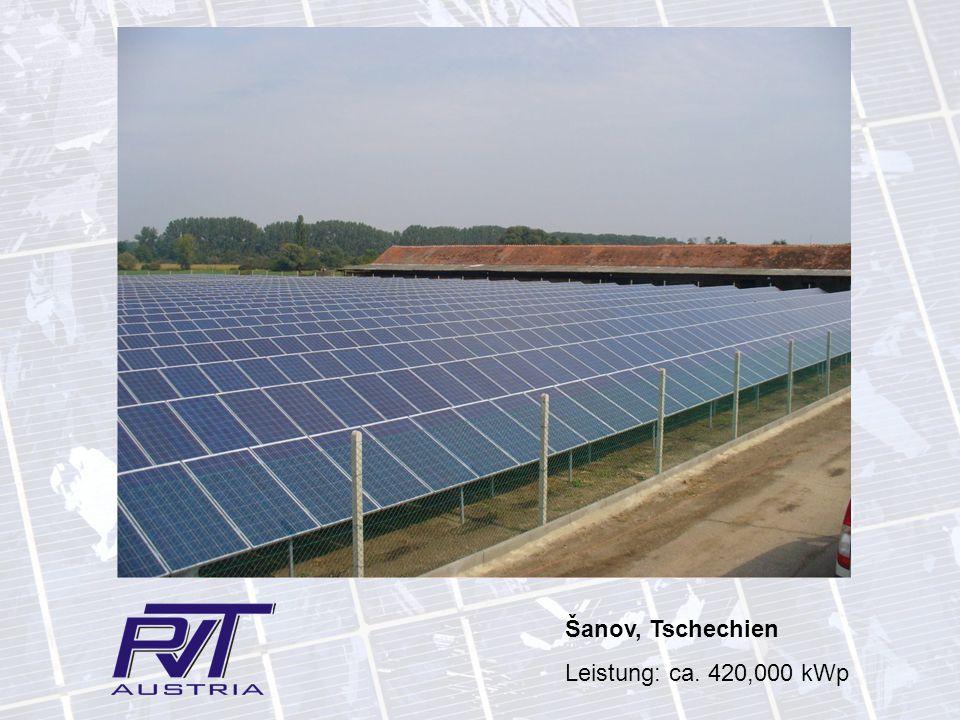 Šanov, Tschechien Leistung: ca. 420,000 kWp