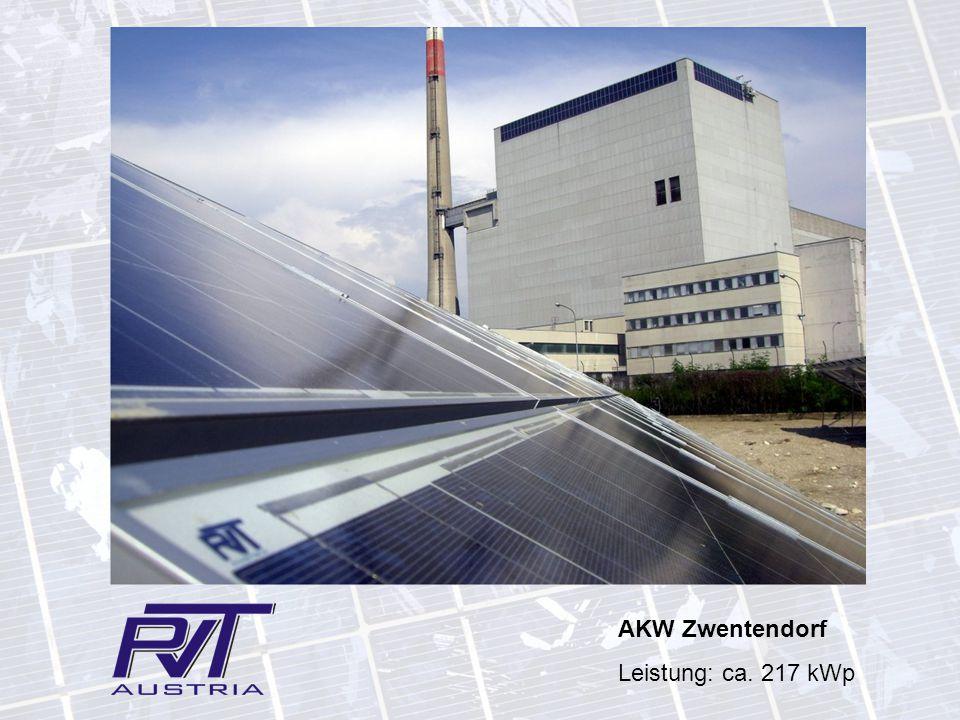 AKW Zwentendorf Leistung: ca. 217 kWp
