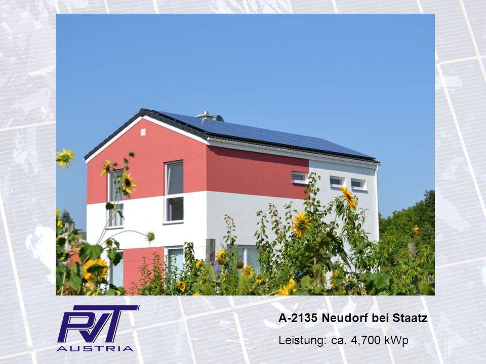 A-2135 Neudorf bei Staatz Leistung: ca. 4,700 kWp