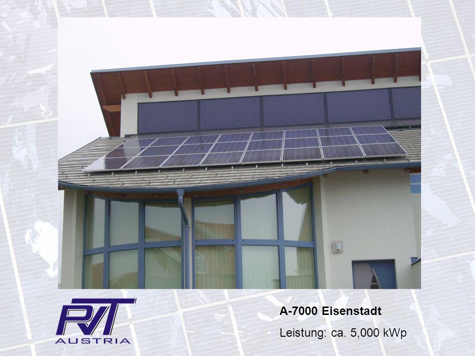 A-7000 Eisenstadt Leistung: ca. 5,000 kWp
