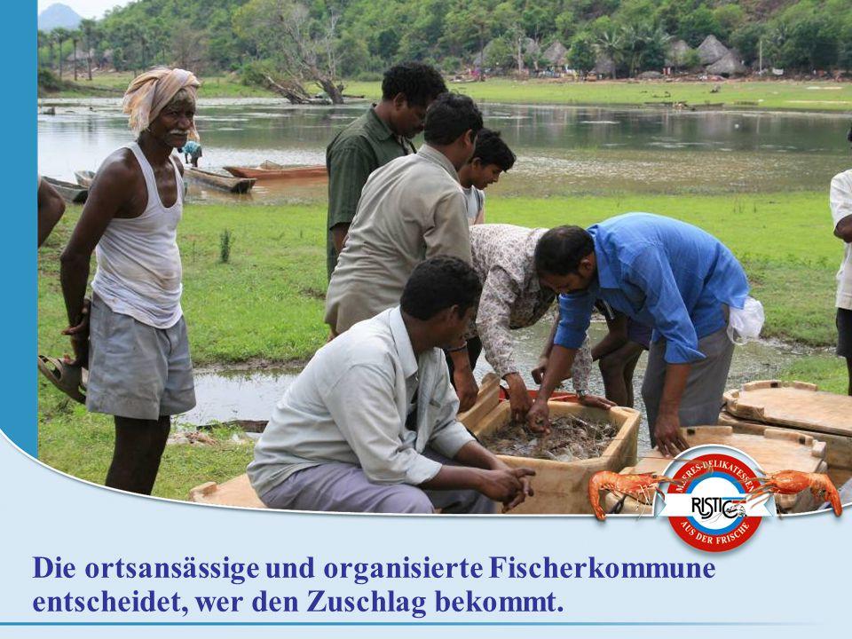 Die ortsansässige und organisierte Fischerkommune entscheidet, wer den Zuschlag bekommt.
