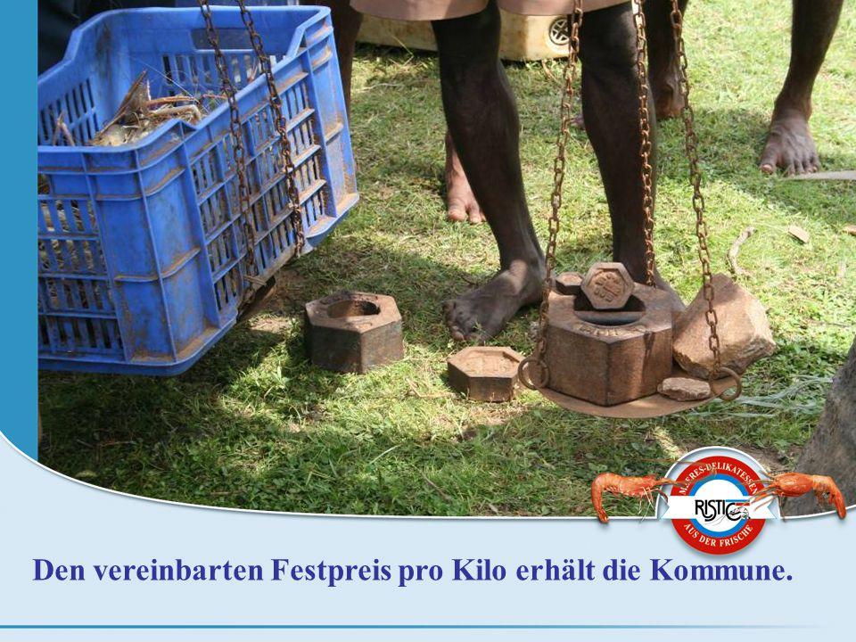 Den vereinbarten Festpreis pro Kilo erhält die Kommune.