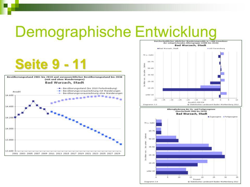 Demographische Entwicklung Seite 9 - 11