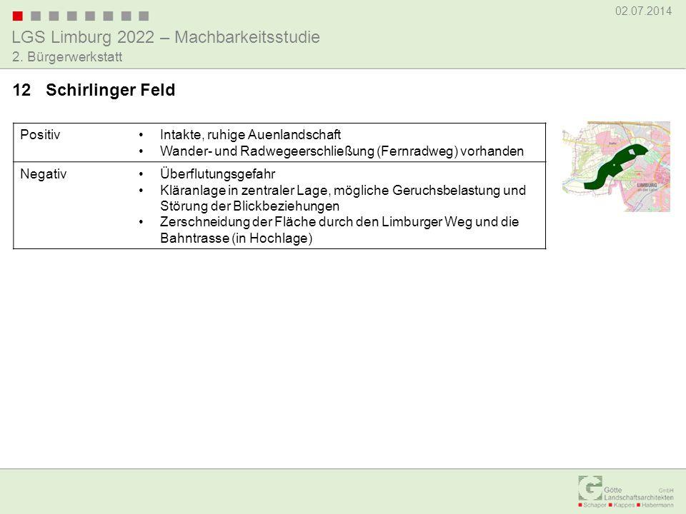 LGS Limburg 2022 – Machbarkeitsstudie 02.07.2014 2. Bürgerwerkstatt PositivIntakte, ruhige Auenlandschaft Wander- und Radwegeerschließung (Fernradweg)
