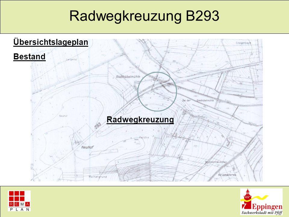 Übersichtslageplan Bestand Radwegkreuzung