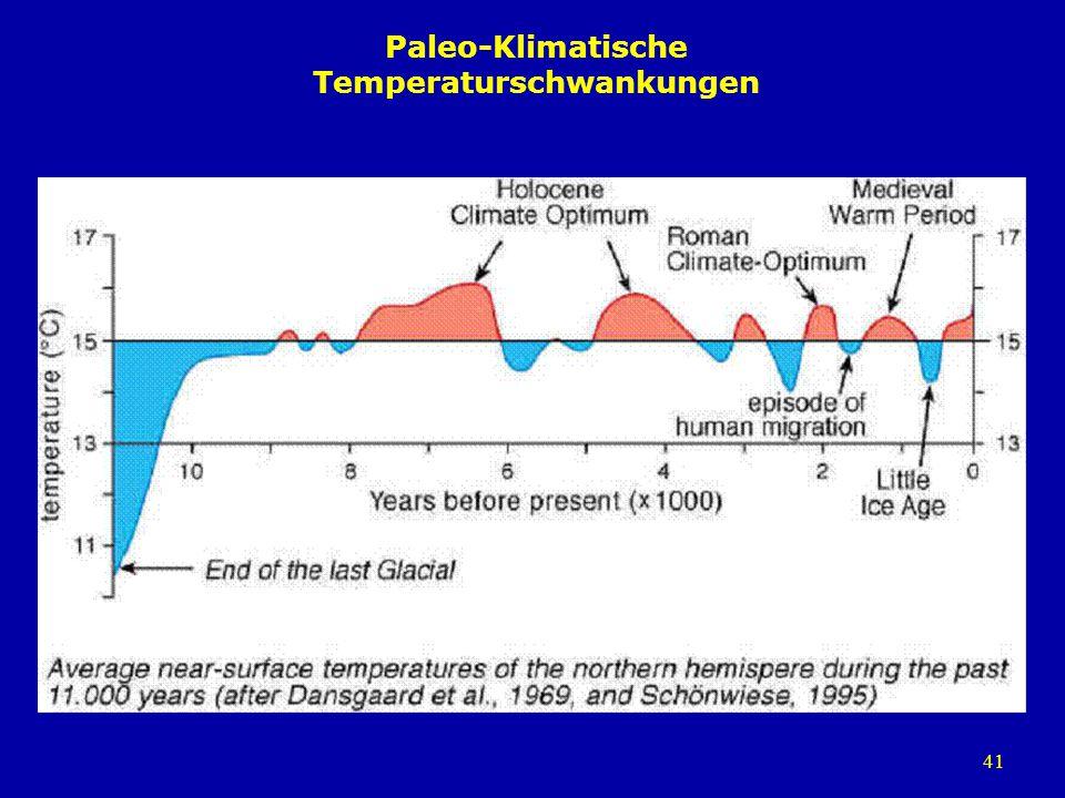 41 Paleo-Klimatische Temperaturschwankungen