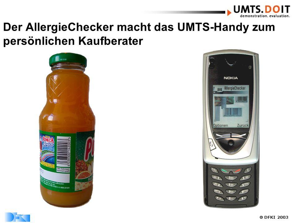  DFKI 2003 Der AllergieChecker macht das UMTS-Handy zum persönlichen Kaufberater