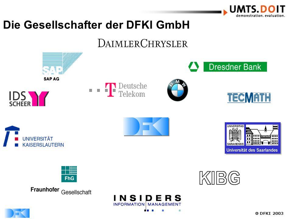  DFKI 2003 Die Gesellschafter der DFKI GmbH
