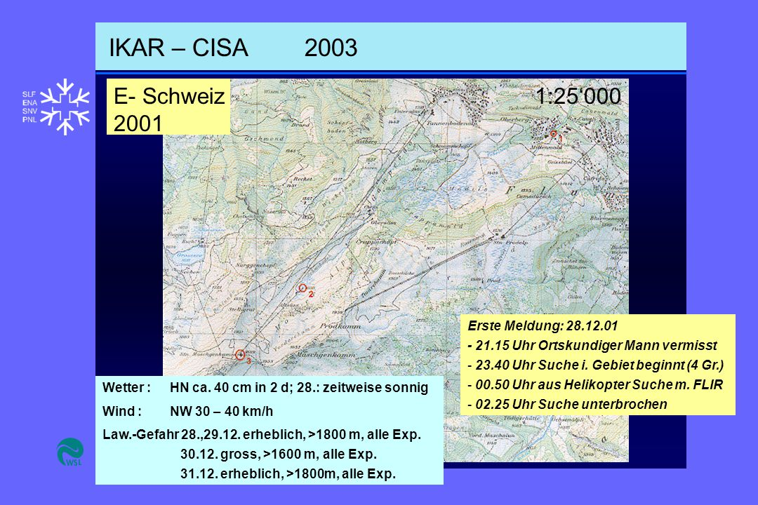 IKAR – CISA2003 Wetter : HN ca.