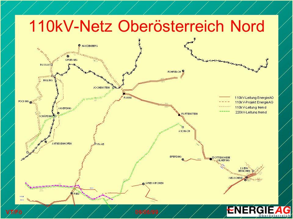 VT/Fö09/06/99 110kV-Netz Oberösterreich Nord