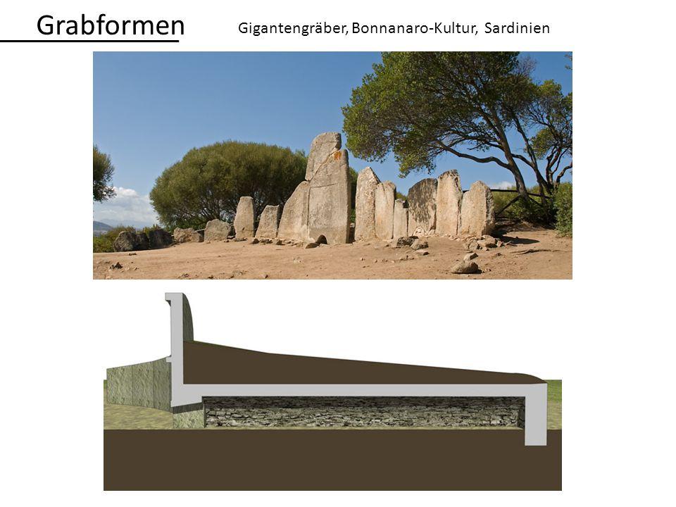 Gigantengräber, Bonnanaro-Kultur, Sardinien Grabformen