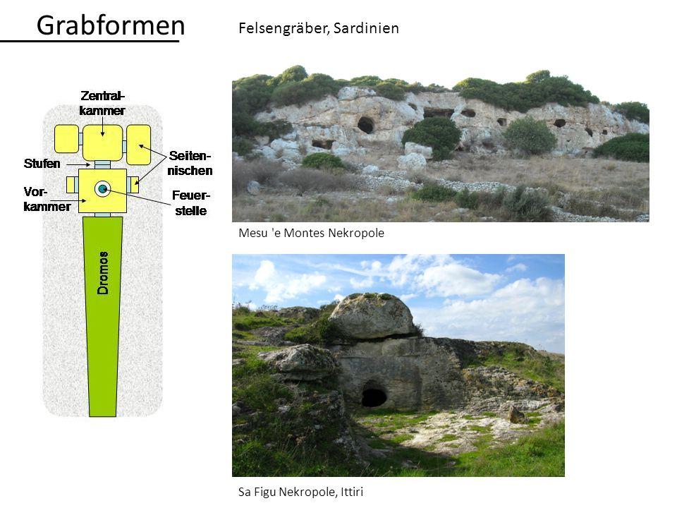 Felsengräber, Sardinien Mesu 'e Montes Nekropole Sa Figu Nekropole, Ittiri