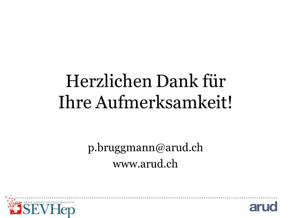 Herzlichen Dank für Ihre Aufmerksamkeit! p.bruggmann@arud.ch www.arud.ch