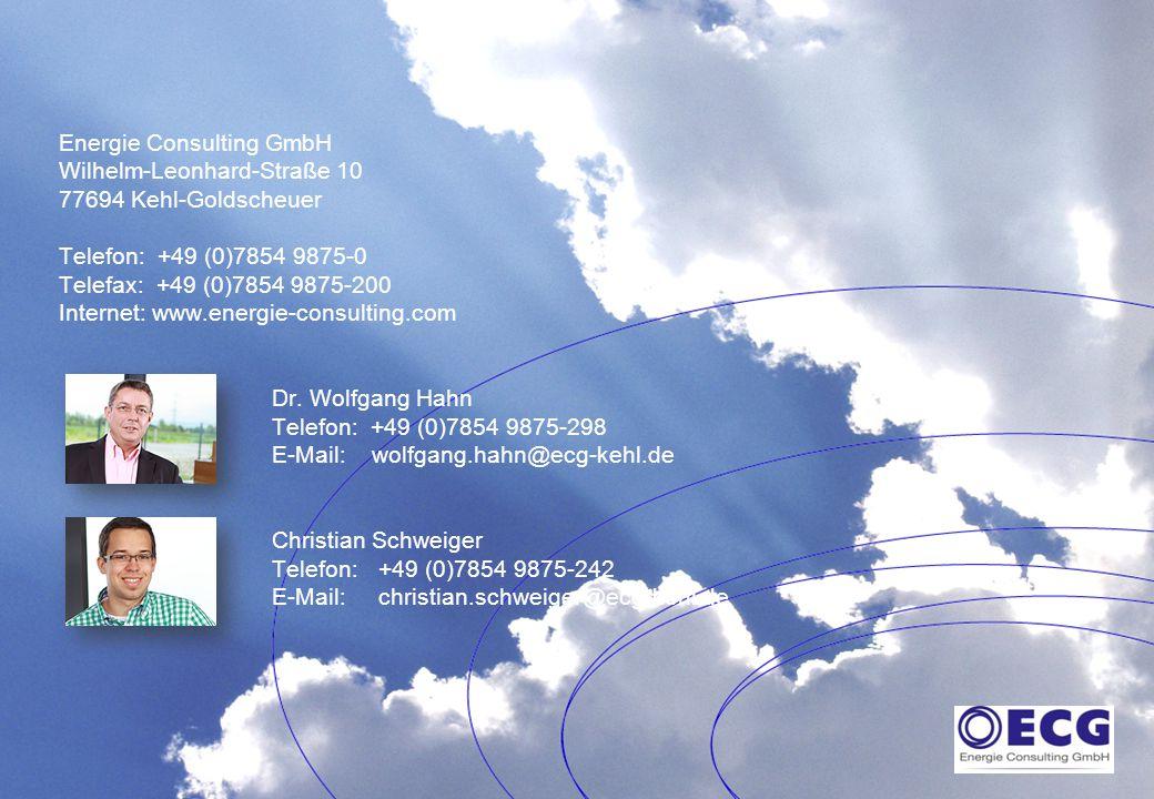 11.11.2014Intelligent mit Energie umgehen.17 Energie Consulting GmbH Wilhelm-Leonhard-Straße 10 77694 Kehl-Goldscheuer Telefon: +49 (0)7854 9875-0 Tel