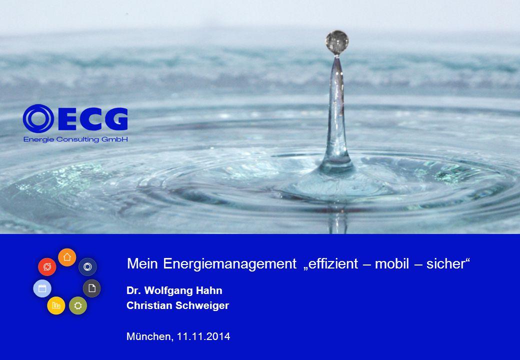 """Mein Energiemanagement """"effizient – mobil – sicher"""" Dr. Wolfgang Hahn Christian Schweiger München, 11.11.2014"""