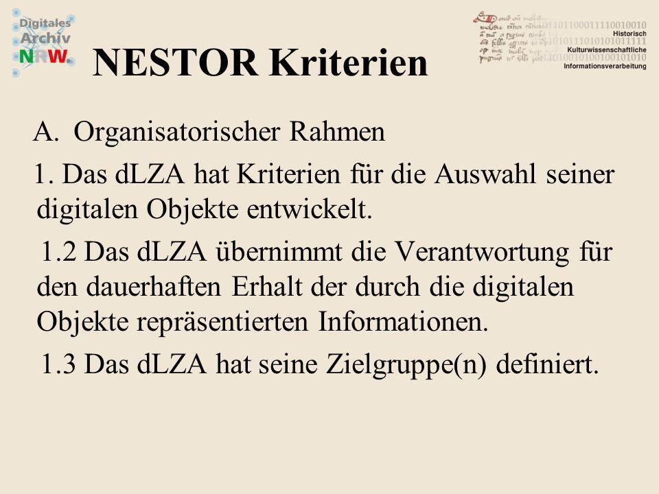 A.Organisatorischer Rahmen 2.