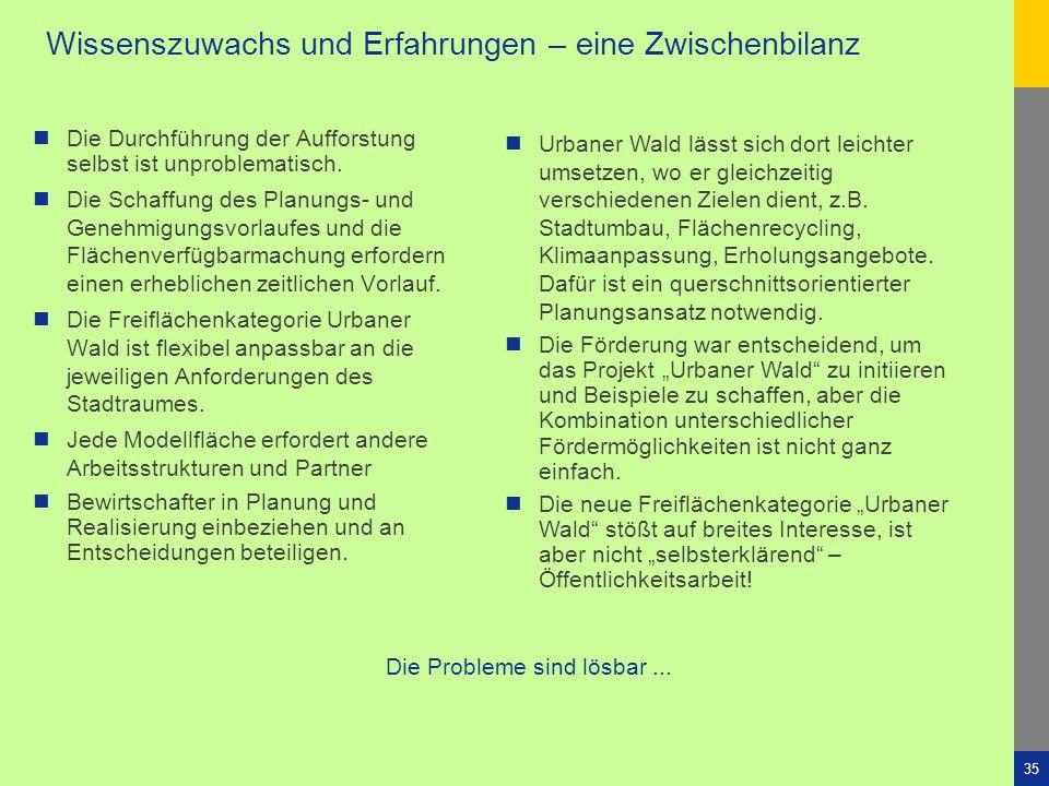 """Stadt Leipzig -35""""Urbaner Wald"""" 4. Sächs. Klimakongress KlimaSTADTWandel Dresden4. Dezember 2010 Wissenszuwachs und Erfahrungen – eine Zwischenbilanz"""