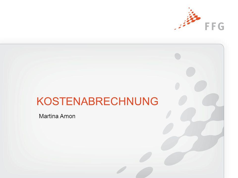 KOSTENABRECHNUNG Martina Amon