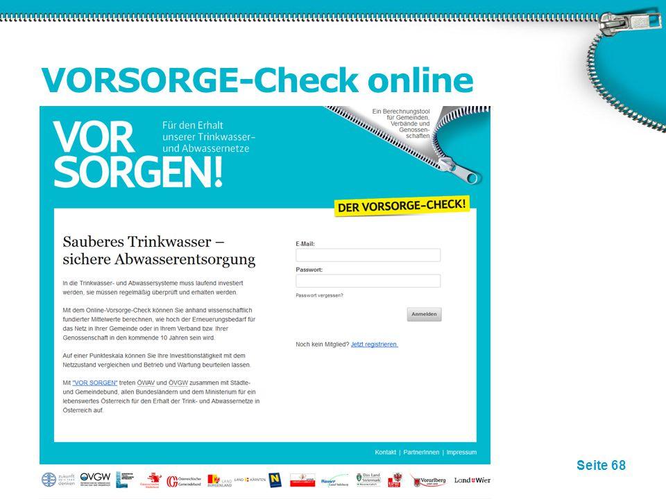 Seite 68 VORSORGE-Check online