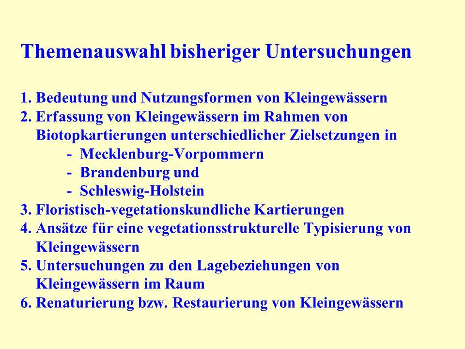Kleingewässer vom Flächentyp mit Gehölzen 8.4 Kerbel-Brennssel-Flur 10.1 Grauweiden-Gebüsch 13.2 Birken-Bruchwald