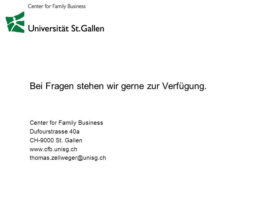 Unternehmer- familien Seite 16 Bei Fragen stehen wir gerne zur Verfügung. Center for Family Business Dufourstrasse 40a CH-9000 St. Gallen www.cfb.unis