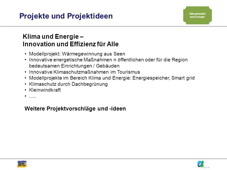 Projekte und Projektideen Klimawandel und Energie Klima und Energie – Innovation und Effizienz für Alle Modellprojekt: Wärmegewinnung aus Seen Innovat