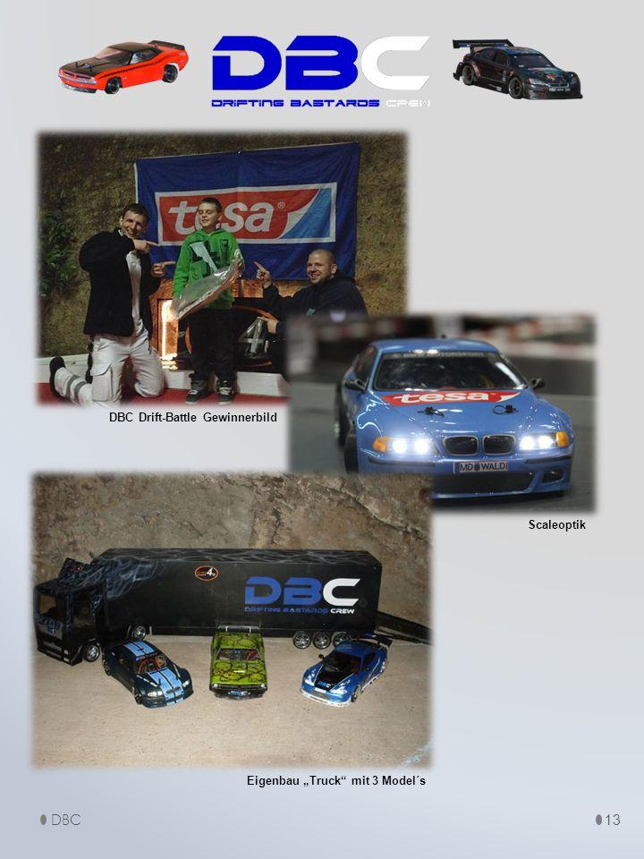 "13 Eigenbau ""Truck mit 3 Model´s DBC Drift-Battle Gewinnerbild Scaleoptik DBC"