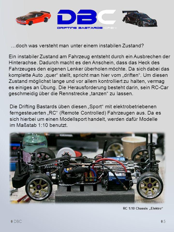DBC5 …doch was versteht man unter einem instabilen Zustand? Ein instabiler Zustand am Fahrzeug entsteht durch ein Ausbrechen der Hinterachse. Dadurch