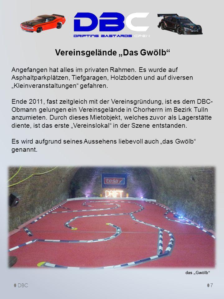 8 Das Gwölb hat eine Größe von 450m², wo mehrere Driftstrecken in Planung stehen.
