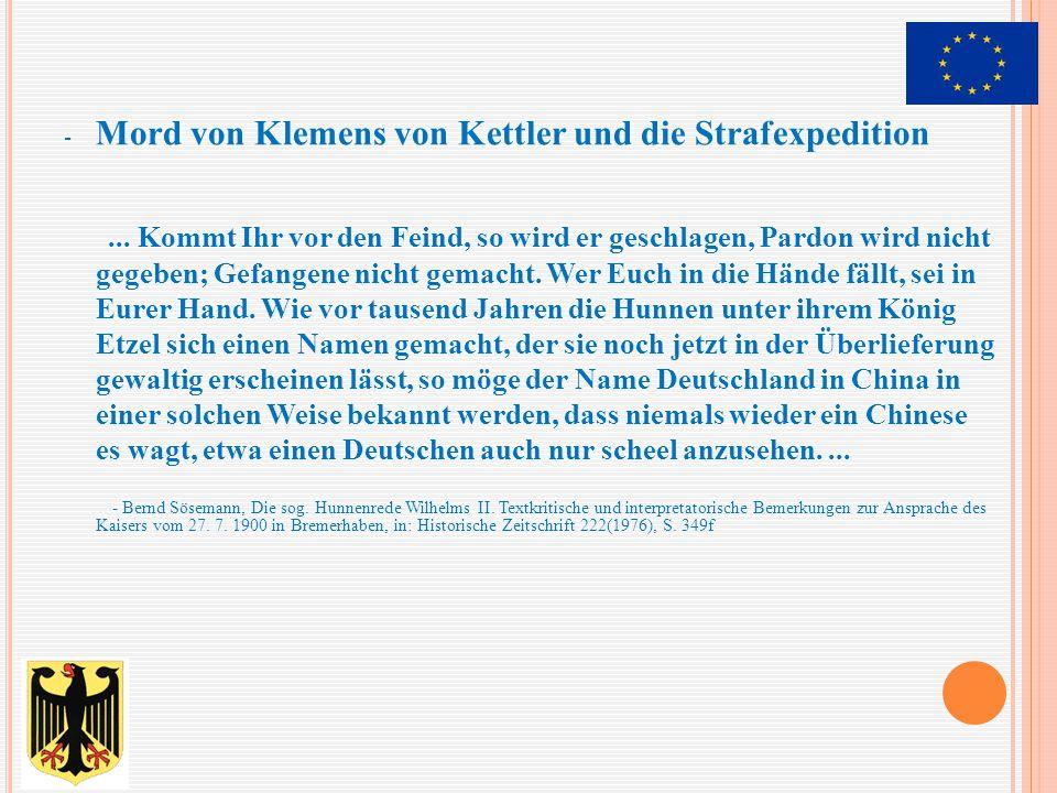 - Mord von Klemens von Kettler und die Strafexpedition... Kommt Ihr vor den Feind, so wird er geschlagen, Pardon wird nicht gegeben; Gefangene nicht g