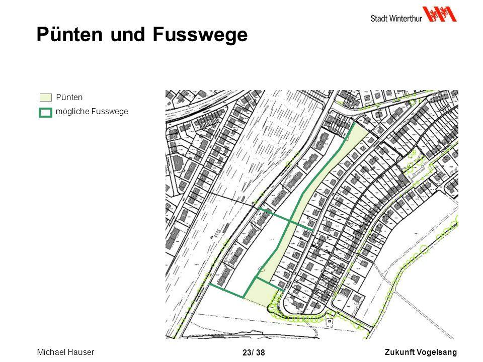 Zukunft Vogelsang 23/ 38 Pünten und Fusswege Pünten mögliche Fusswege Michael Hauser