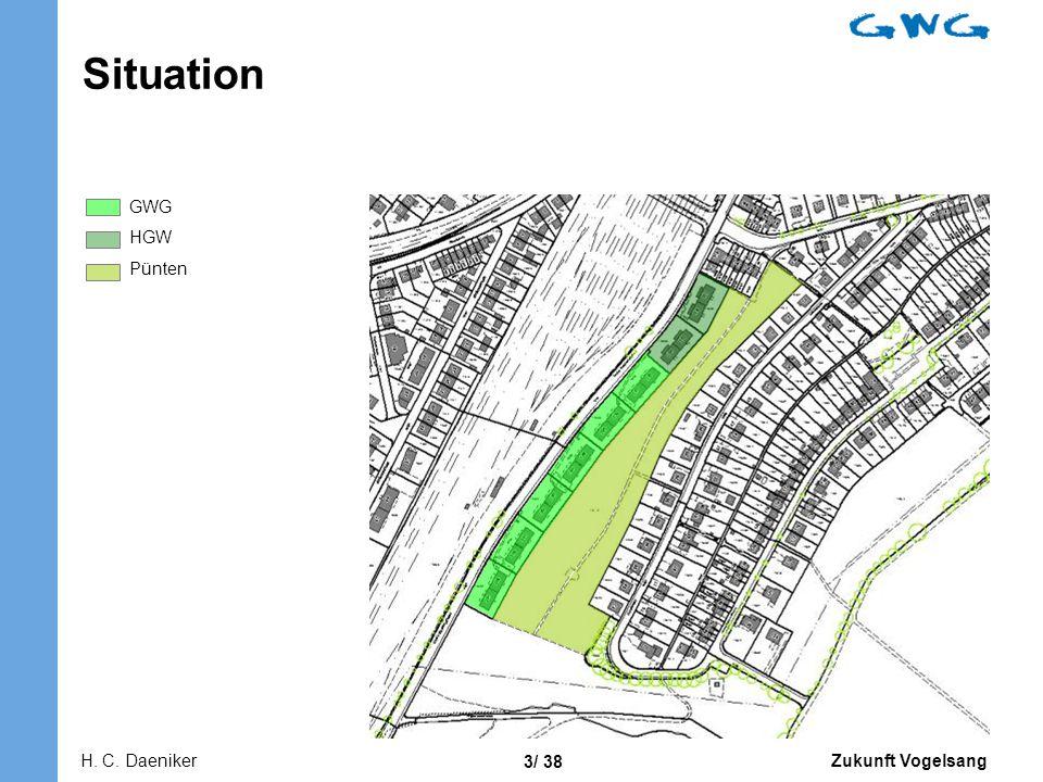 Zukunft Vogelsang 3/ 38 Situation GWG HGW Pünten H. C. Daeniker