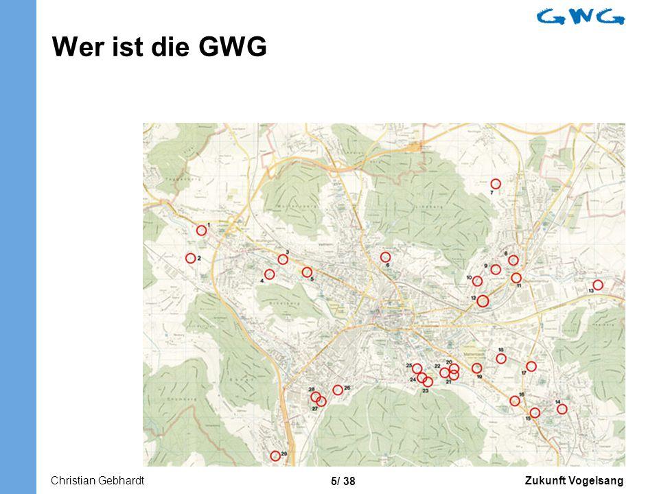 Zukunft Vogelsang 5/ 38 Wer ist die GWG Christian Gebhardt